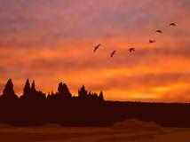 Soirée d'automne Images libres de droits