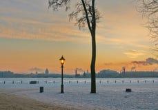 Soirée d'hiver à St Petersburg Photos stock