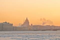 Soirée d'hiver à St Petersburg Images libres de droits