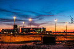 Soirée d'hiver à St Petersburg sur le vieillissement photo stock