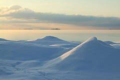 Soirée d'hiver sur la mer Images libres de droits
