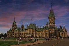Soirée d'Ottawa avec les cieux fabuleux Image libre de droits