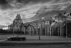 Soirée d'Ottawa avec les cieux fabuleux - noirs et blancs Photos stock