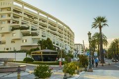 Soirée dans la ville de Marbella, Andalousie, Espagne Photo libre de droits