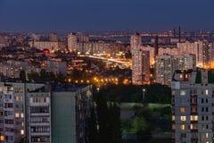 Soirée dans la ville de Volgograd La ville de héros Photographie stock