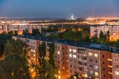 Soirée dans la ville de Volgograd La ville de héros Images stock