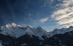 Soirée dans les montagnes Images libres de droits