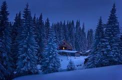Soirée dans les montagnes Photos libres de droits