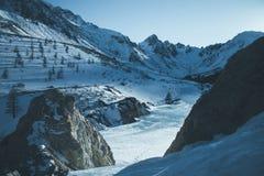 Soirée dans les montagnes Photographie stock