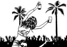 Soirée dansante tropicale Photos libres de droits
