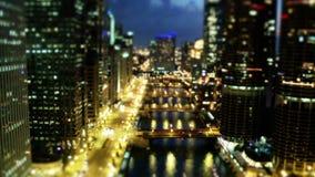 Soirée de Chicago - inclinez la faute de décalage/temps banque de vidéos