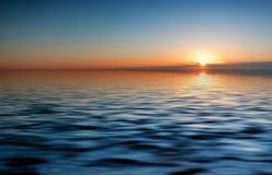 Soirée de coucher du soleil Image stock