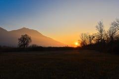 Soirée de coucher du soleil Photos libres de droits