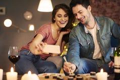 Soirée de dépense avec amour Photographie stock libre de droits