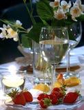 Soirée de fraise Photo stock