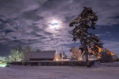 Soirée de l'hiver Photographie stock