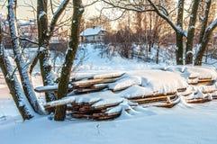 Soirée de l'hiver photo stock