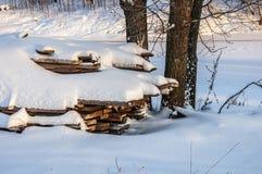 Soirée de l'hiver photographie stock libre de droits