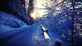 Soirée de l'hiver Photos stock