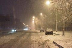 Soirée de l'hiver photos libres de droits