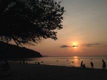 Soirée de mer dans la province de Chonburi Image stock