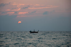 Soirée de pêcheur Images libres de droits