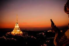 Soirée de Phranakornkhiri Photographie stock libre de droits
