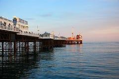 Soirée de pilier de Brighton Photographie stock libre de droits
