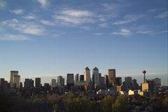 Soirée du centre de Calgary Photos stock