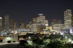 Soirée du centre de Houston photographie stock