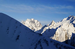 Soirée en montagnes Images stock