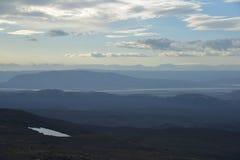 Soirée en montagnes Photo libre de droits