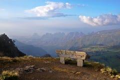 Soirée en montagnes de Simien Image libre de droits