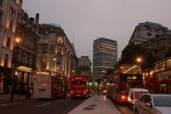 Soirée Londres, R-U Image libre de droits