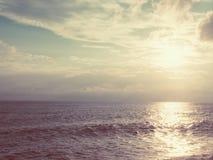 Soirée sur la mer Photos stock