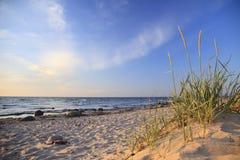 Soirée sur la mer baltique Images libres de droits