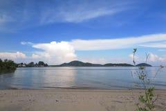 Soirée sur la plage Images libres de droits