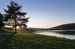 Soirée sur le lac photo libre de droits