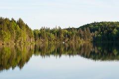 Soirée sur le lac Images libres de droits