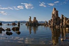 Soirée sur le lac mono Image libre de droits