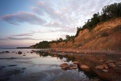 Soirée sur le silence de mer Photo stock