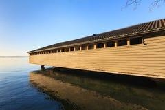 Soirée sur un lac Images libres de droits