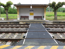 Soirac-Bahnhof Lizenzfreies Stockfoto