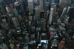 Soirée de New York Photographie stock libre de droits