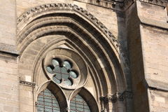 Soissons Cathedral. Architectural detail of Soissons Cathedral, Aisne, Picardy, France Stock Photo