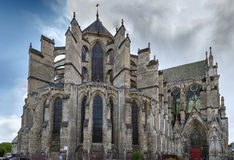 Soissons domkyrka, Frankrike Royaltyfria Bilder