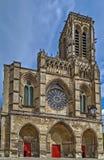 Soissons-Kathedrale, Frankreich Stockbild