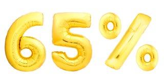 Soixante-cinq 65 pour cent d'or Image stock