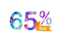 65 soixante-cinq pour cent de vente illustration de vecteur