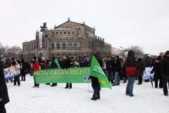 soixante-cinquième commémoration du bombardement de Dresde Photo stock